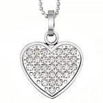 hjärta halsband present